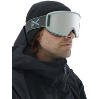 Gray Frame with Sonar Silver & Amber Lenses (185391 043) Anon Relapse Goggle