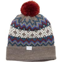 Light Brown Coal The Winters Nordic Sweater Pom Beanie