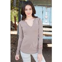 Sandstone Alp N Rock Off Piste Henley Shirt Womens
