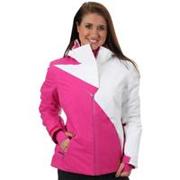 Sassy Pink / White Spyder Power Jacket Womens