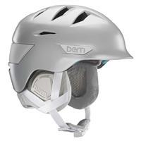 Satin Delphin Grey Bern Hepburn Helmet Womens
