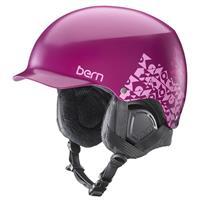Satin Magenta Geo Bern Muse EPS Helmet Womens