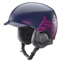 Satin Navy Geo Bern Muse EPS Helmet Womens