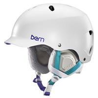 Satin White Bern Lenox Helmet Womens