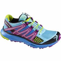 Score Blue / Very Purple / Pop Green Salomon XR Mission Road to Trail Running Shoes Womens