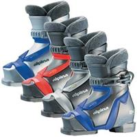Silver / Blue Alpina Be3K Ski Boots Youth