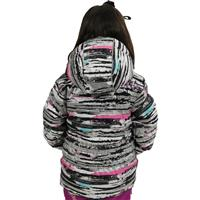Silver Scribble Print Obermeyer Sheer Bliss Jacket Preschool Girls