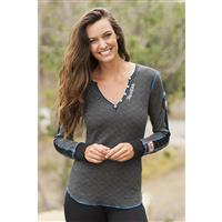 Heather Black Alp N Rock Ski Henley Womens