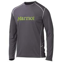 Slate Grey/Green Lichen Marmot Windridge with Graphic LS Mens