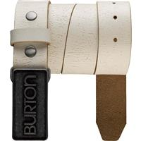 Stout White Burton Emboss Belt Womens