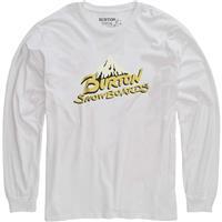 Stout White Burton Vintage Logo LS Tee Mens