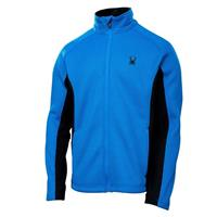 Stratos Blue/Black Spyder Constant Full Zip Mid Weight Core Sweater Mens