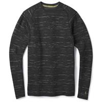 Charcoal Black Smartwool Merino 250 Baselayer Pattern Crew Mens