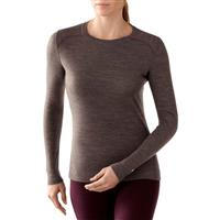 Taupe/Aubergine Smartwool Midweight Crew Top Womens