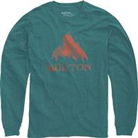 Teal Heather Burton Stamped Mountain LS Shirt Mens