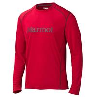 Team Red/Cinder Marmot Windridge with Graphic LS Mens