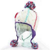 Purple Turtle Fur Macaroon Hat Girls