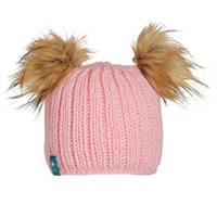 Turtle Fur Puff Balls Beanie Youth