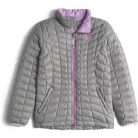 Metallic Silver The North Face Thermoball Full Zip Jacket Girls