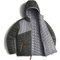 Graphite Grey Pixel The North Face Reversible Thermoball Hoodie Boys