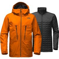 Sunset Orange The North Face Thermoball Snow Tri Climate Jacket Mens