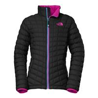 TNF Black / Luminous Pink The North Face Thermoball Full Zip Jacket Girls
