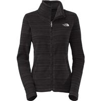 TNF Black Stria Print The North Face Crescent Sunset Full Zip Fleece Womens