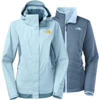 Cool Blue / Tofino Blue The North Face Mossbud Swirl Triclimate Jacket Womens