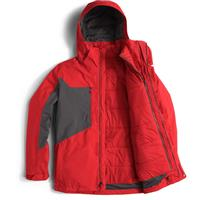 Fiery Red / Asphalt The North Face Clement Triclimate Jacket Mens
