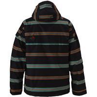True Black Bandwidth Stripe Print Burton Arctic Jacket Mens