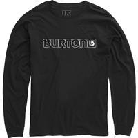 True Black Burton Logo Horizontal LS Shirt Mens