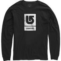 True Black Burton Logo Vertical Fill LS Shirt Mens