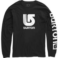 True Black Burton Logo Vertical Fill LS Tee Boys