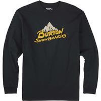 True Black Burton Vintage Logo LS Tee Mens