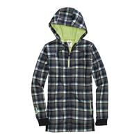 True Black Candy Plaid Burton Bonded Empress Fleece Girls