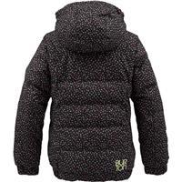 True Black Confetti Print Burton Allure Puffy Jacket Girls