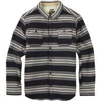 True Black Kingdom Stripe Burton Cole Sherpa Woven Shirt Mens