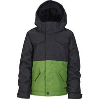 True Black / Slime Burton Minishred Fray Jacket Boys