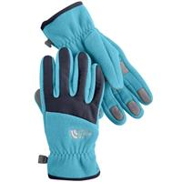 Turquoise Blue / Deep Water Blue The North Face Denali Gloves Girls
