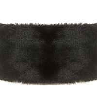 Black Turtle Fur Vermont Collection Fancy Fur Headband Womens