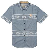 Dark Denim Famish Stripe Burton Tycoon Short Sleeve Mens