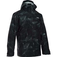 Black / Overcast Gray / Nova Teal Under Armour CGI Haines Shell Jacket Mens