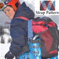 US Flag Fast Strap Spring Loaded Ski Boot Strap