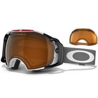 USA Olympic Frame / Black Iridium Lens + Persimmon Lens (59 281) Oakley Airbrake Snow Goggle