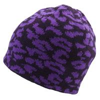 Vamp Ride Pattern Reversible Beanie Womens