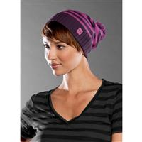 Vivid Lavender Oakley Stripe Bon Beanie Womens