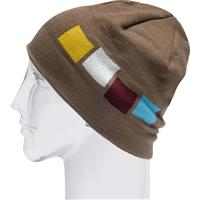 Walnut Foursquare Emblem Beanie Mens