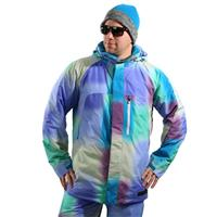Waterblurry Print Burton Hostile Jacket Mens