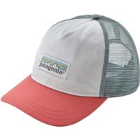White w/ Spiced Coral (WHIS) Patagonia Pastel P 6 Label Trucker Hat Womens