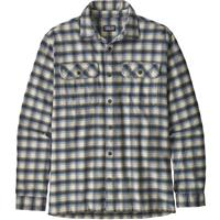Castroville / Oyster White Patagonia Long Sleeve Fjord Flannel Shirt Mens